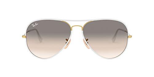 Ray-Ban Aviator RB 3025, Gafas de Sol Unisex, Multicolor (Transparente/Dorado), 58 mm