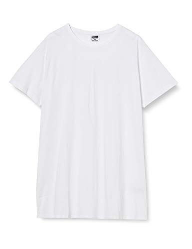 Urban Classics Herren Shaped Long Tee T-Shirt, Weiß (White), M