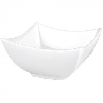Arcoroc Square Bowls, Deep 8.8 cm, White (Pack of 6)
