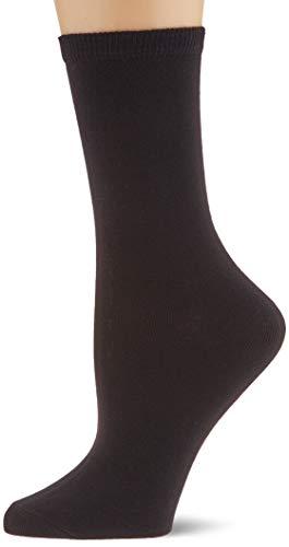 PIECES Damen PCELISA 4 PACK NOOS Socken, Schwarz (Black Black), 39/40 (Herstellergröße: 39-41) (4er Pack)