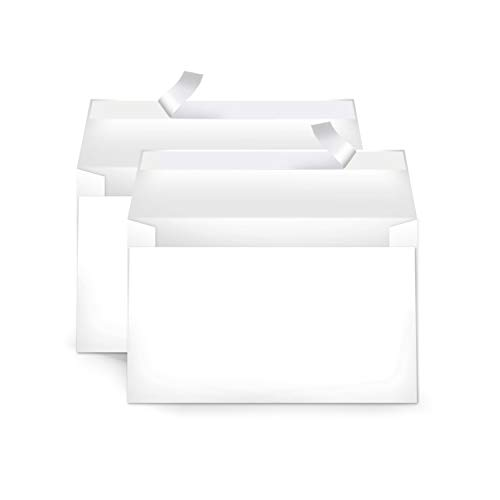 AmazonBasics A9 Blank Invitation Envelopes with Peel & Seal, White, 100-Pack (5-3/4 x 8-3/4 inches) - AMZA22