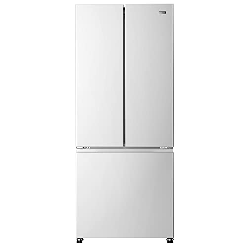 Galanz GLR16FWED08 3 French Door Refrigerator with Bottom Freezer & Adjustable Thermostat, White