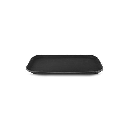 35 x 25 cm, rutschfestes Tablett, rechteckig, Kunststoff, schwarz, Gastronomie, Restaurant Pub Bar