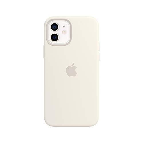 Apple SilikonCase mit MagSafe (für iPhone 12 | 12 Pro) - Weiß