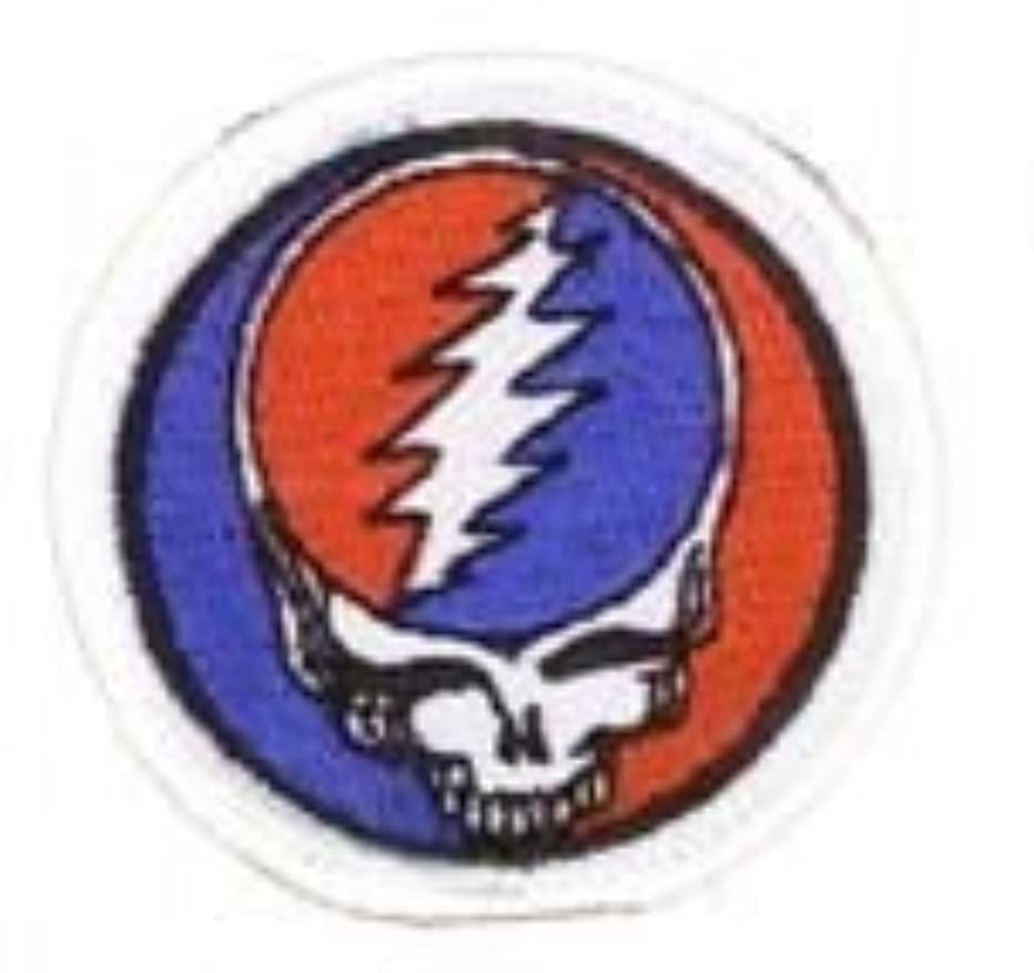 GDP Inc - Grateful Dead Mini Steal Your Face Lightening Embroidered Patch - 1.75