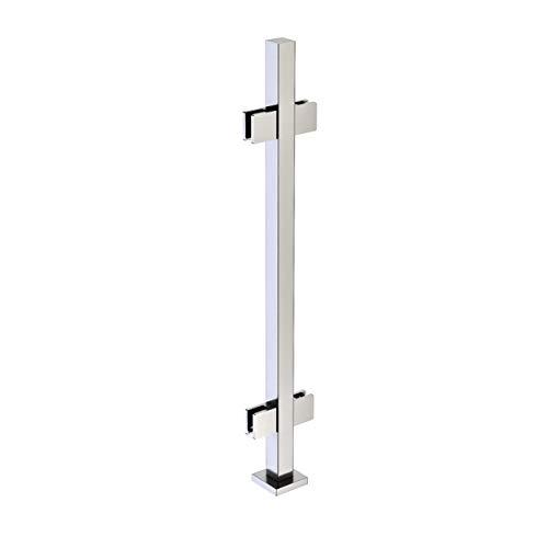Inline Design Modulare Glasgeländer - Quadratische Pfosten ohne Topschiene Kit 91 cm (36 Zoll) - Mittelpfosten