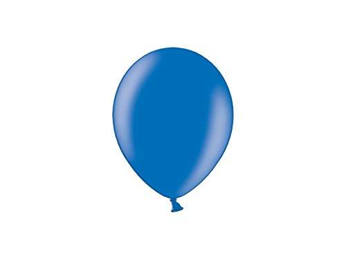Les Colis Noirs LCN - Lot de 10 Ballon Métallique 23cm - Bleu - Décoration Fête Mariage - 932