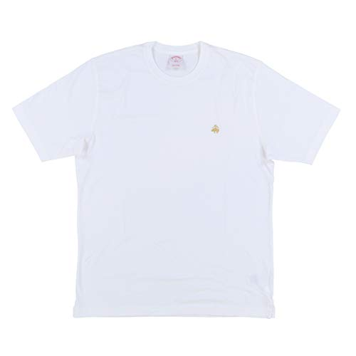 Brooks Brothers Mens Original Crew T-Shirt (L, White)