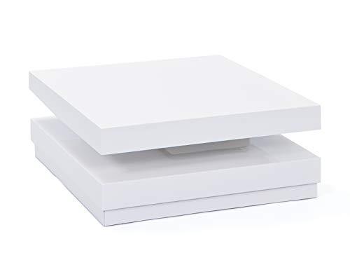 Inter Link 20800920 Couchtisch weiß hochglanz Wohnzimmertisch Wohnzimmer Tisch Design modern 75x75