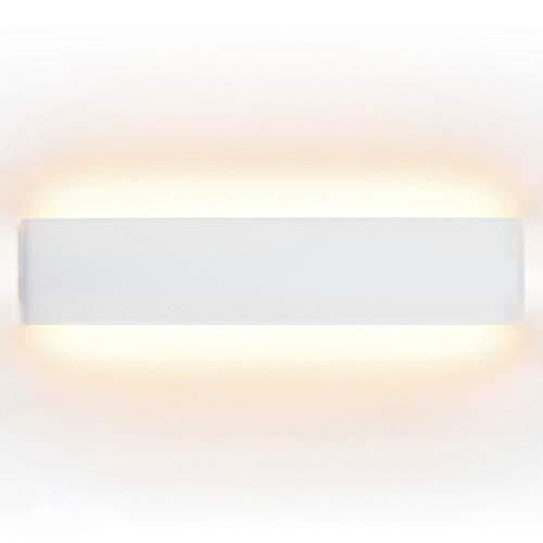 ELINKUME 14W Aluminium Acryl Moderne LED-Wandleuchte 85-265V Up Down Moderne Wandlampen Innen mit 70 LEDs 2835 1540 Lumen Warmweiß