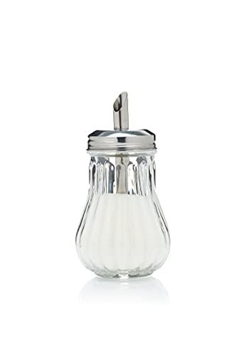 EliteKoopers 10 dispenser di zucchero in vetro retrò per caffè/bistrot ristorante shaker ciotola