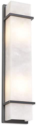 Casa Padrino lámpara de Pared de Lujo Bronce/alabastro 13 x 9 x A. 60 cm - Elegante lámpara de Pared con Pantalla de alabastro - Luces de Lujo
