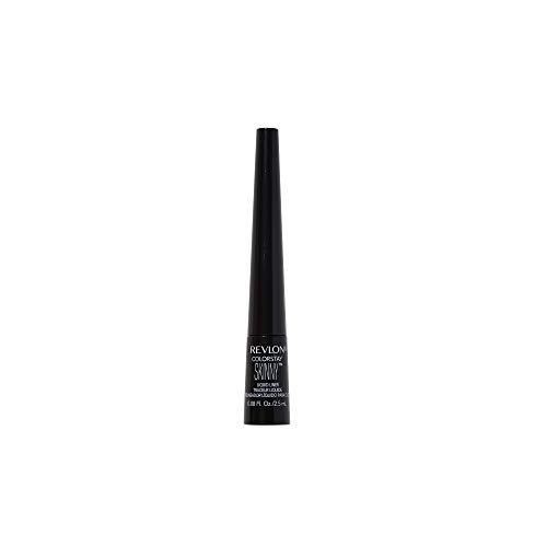 REVLON ColorStay Skinny Liquid Eyeliner, Waterproof, Smudgeproof, Longwearing Eye Makeup with Ultra-Fine Tip, Black Out (301)