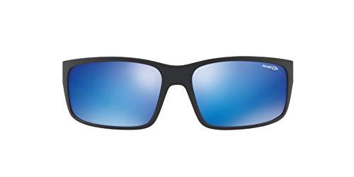 Arnette Fastball 2.0, Gafas de Sol para Hombre, Negro (Matte Black/Green Mirror Light Blue), 62