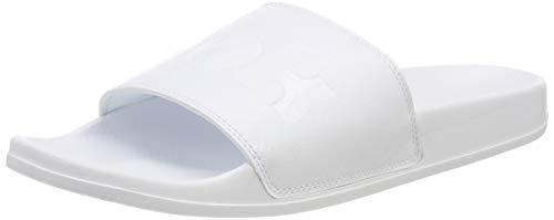 Reebok Unisex-Erwachsene Classic Slide Dusch- & Badeschuhe, Weiß (Sp Lt/White/Whit/Black Sp Lt/White/Whit/Black), 39 EU