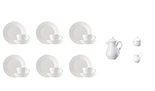 Hutschenreuther Maria Theresia Kaffeeservice 21-TLG Weiss