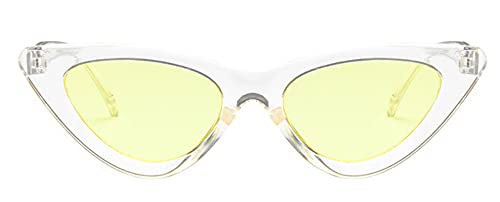Gafas De Sollindas Y Atractivas Gafas De Sol Retro con Forma De Ojo De Gato para Mujer, Pequeño, Negro, Blanco, Triángulo,Gafas De Sol Vintage, Roj
