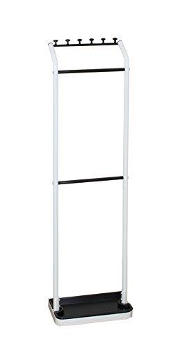 平安伸銅工業 傘立て アンブレラハンガー ホワイト/ブラック 耐荷重3kg H-3