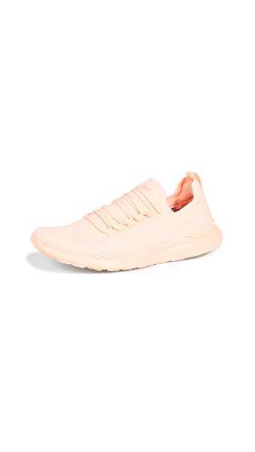APL: Athletic Propulsion Labs Women's Techloom Breeze Sneakers, Neon Peach, Pink, Orange, 5 Medium US