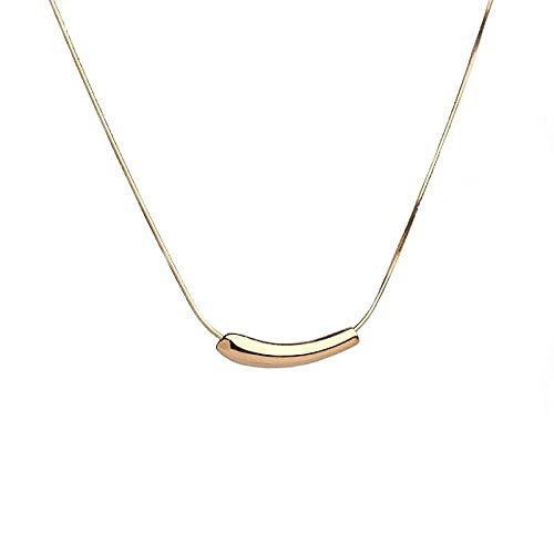 Collar De Sonrisa De Codo De Pimienta Pequeño Cadena De Hueso De Serpiente Cadena De Clavícula De Moda De Personalidad Simple