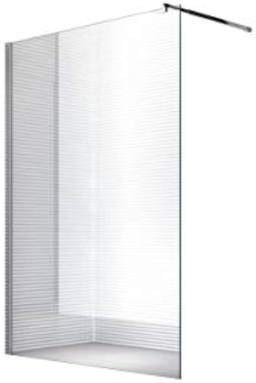 10m Duschwand - Duschabtrennung - Dusche - Walk-In Dusche - Fest & Freistehend - ESG - Varianten (ESG-Klarglas, 80x200cm)