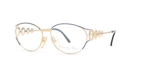 Christian Dior Damen Brillengestell Schwarz Schwarz / goldfarben