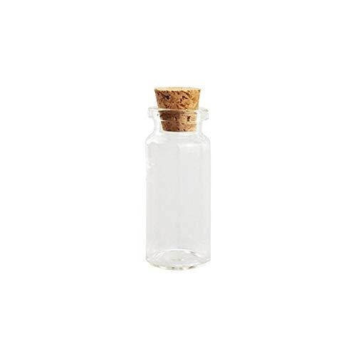 5 PCS Mini botellas de vidrio con tapones de corcho Botellas transparentes a la deriva Frascos pequeños Frascos Contenedores Navidad Botellas de deseos pequeñas para bodas Fiesta de cumpleaños