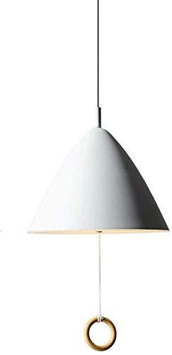 Kreative Konische Eisen-Kunst-Deckenpendelleuchte Modern Metall Restaurant Droplight Kronleuchter LED Pendelleuchte mit Zugschalter Schlafzimmer Nacht Kinderzimmer Dekor-Beleuchtungskörper,white
