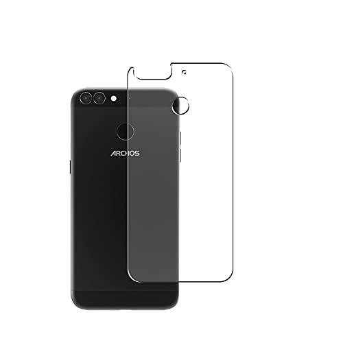 Vaxson 2 Stück Rückseite Schutzfolie, kompatibel mit ARCHOS 55 Graphite, Backcover Skin TPU Folie Haut [nicht Panzerglas Bildschirmschutzfolie Hülle Hülle ]