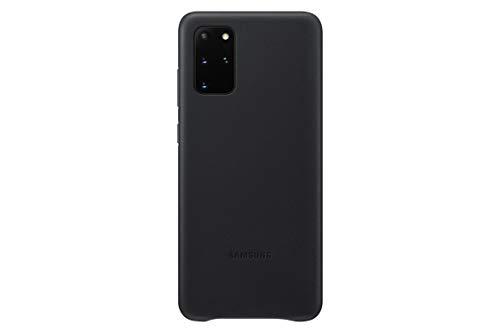 Samsung Leather Smartphone Cover EF-VG985 für Galaxy S20+ | S20+ 5G Handy-Hülle, echtes Leder, Schutz Case, stoßfest, premium, schwarz