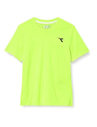 Diadora, Team T-Shirt Jungen-Gelb, Schwarz, S, Oberbekleidung Bambino, Giallo, S