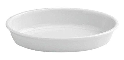 Tognana 35 x 21 x 7 cm-PL-Cook Plat de Cuisson Ovale, Blanc