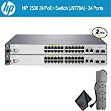 HP 2530 24 PoE+ Switch  2-Pack   J9779A  - 24 Ports W/Powerstrip - Bundle