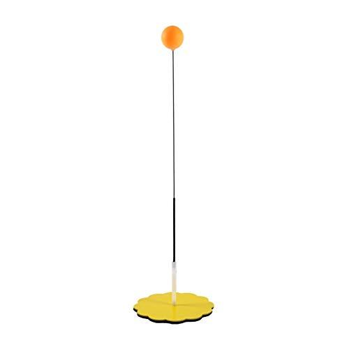 BBGSFDC Dispositivo Mesa de Ping Pong Formación Individual Sucker Ping-Pong Entrenador Práctica Conjunto elástico Ajustable del Eje Flexible con la Raqueta (Size : 55cm)