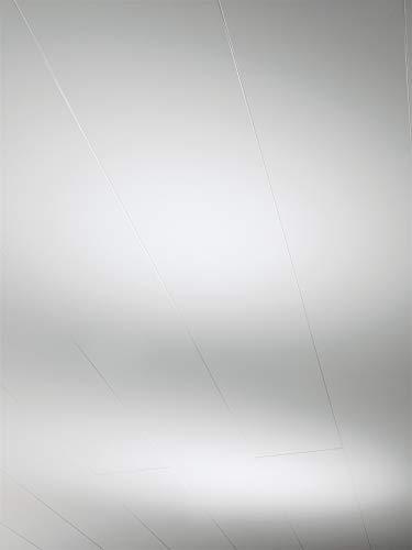 Parador Wand und Decke Rapido Click - Dekor Weiß Hochglanz - Dekorpaneele Optik im individuellen Dekor, feuchtraumgeeignet, einfache Klick-Montage - 1274 x 206 x 12 mm