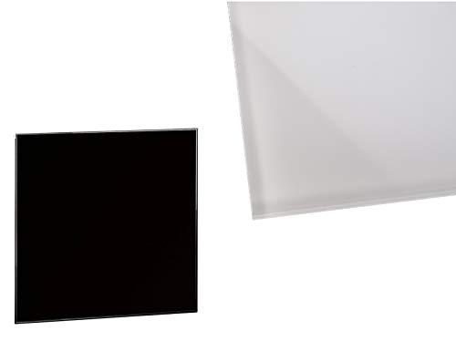 Glasplatte klar 45x45 cm, 6mm, quadratisch, Sicherheitsglas Tischplatte Glasscheibe Schwarz