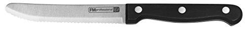 FMprofessional Steakmesser/Pizzamesser, Fleischmesser mit Funktionsteil aus Edelstahl, hochwertiges Messer (Klingenlänge: ca. 11 cm), Menge: 1 Stück