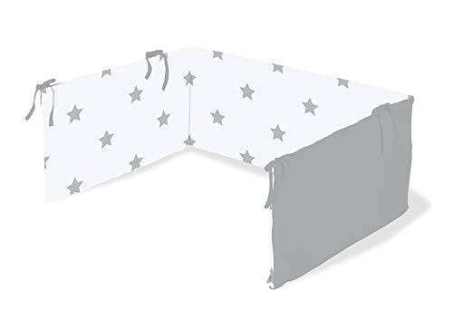 Pinolino 650022-8 Nestchen für Kinderbetten 'Sternchen', grau