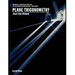 Student Solutions Manual to accompany Plane Trigonometry