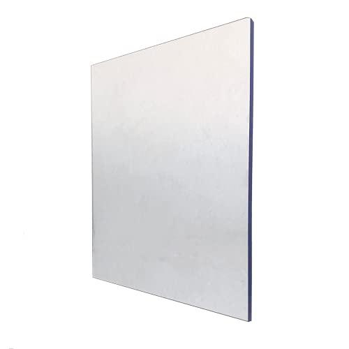 Lastra Policarbonato Compatto Trasparente Macrolux - Spessore 4mm - 200x102cm - Protetta contro i Raggi UV - Vetro Sintetico Plexiglass