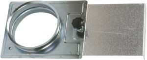 Absperrschieber D=80 mm - Zubehör für die Absauganlage
