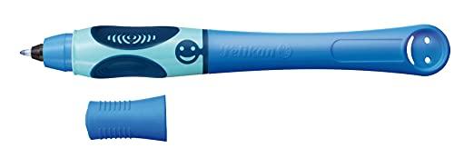 Pelikan Griffix Penna Sferografica Cancellabile, Impugnatura Ergonomica Pedagogica, Fusto Blu, per Destrimani, Cartuccia Inchiostro Blu Inclusa, Made in Germany, 955161