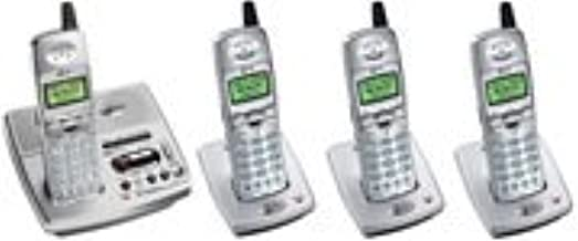 AT&T E5947B 5.8GHz DSS Four Handset Digital Answering System (Silver)