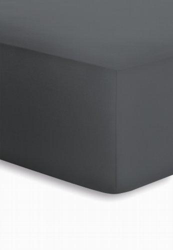 schlafgut Jersey-Elasthan Boxspring Spannbetttuch, Baumwoll-Mischgewebe, Titan, 220 x 200 cm