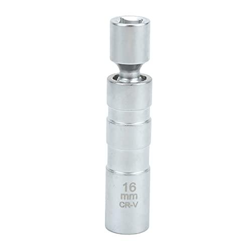 Aoutecen Enchufe de bujía de 12 Puntos, Enchufe de bujía de Pared Delgada de 16 mm Llave en T Ajustable Juego de extensión de Llave dinamométrica para Modelos R55 R56 R57 R60 Mini