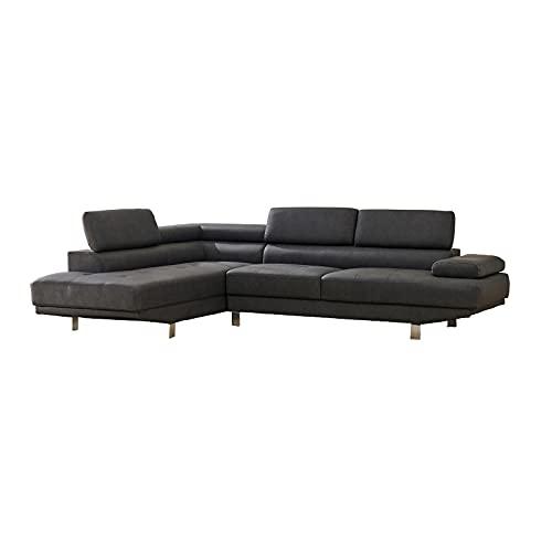 HTI-Line Polstergarnitur Ottomane Links Luzern Ecksofa Polsterecke Polstergarnitur Couch Couchgarnitur Ottomane Sitzgelegenheit