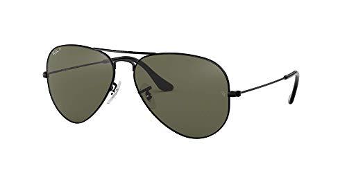 Ray-Ban Negro polarizado verde clásico del G-15 de 62 mm AVIATOR LARGE METAL Gafas de sol de aviador