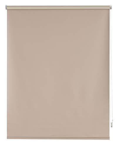 Blindecor Draco – rullgardin 100 procent mörkläggande, 100 x 230 cm, ljusbrun