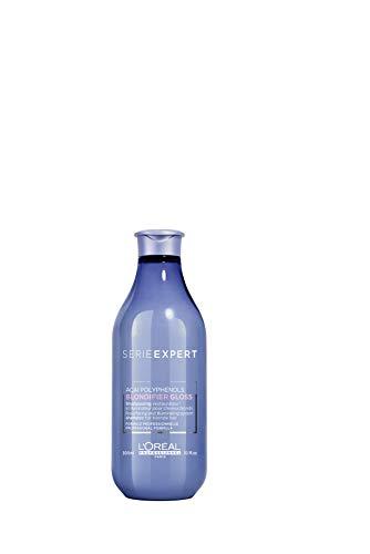 L'Oréal Professionnel Paris Serie Expert Blondifier Shampoo Gloss, Farbschutz & Pflegeshampoo für blondiertes, gesträhntes & naturblondes Haar, ohne Gelbstich oder Frizz, 300 ml