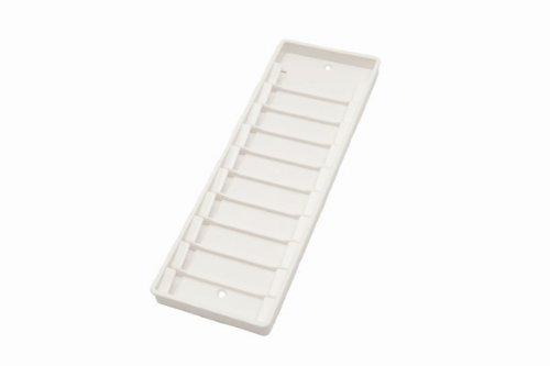 SCM PC-Card GmbH Kartenhalter/Wandhalter für 10 Mitarbeiterkarten weiß - Zeiterfassung/Timerecording/kompatibel zu Chipdrive und Reiner SCT
